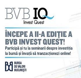 Bursa de Valori Bucuresti (BVB) lanseaza a doua editie a competitiei educationale BVB Invest Quest