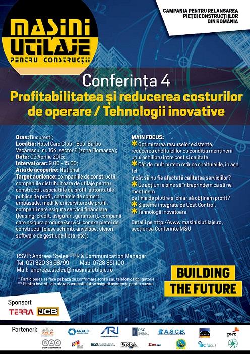 Conferinta 4 – Profitabilitatea si reducerea costurilor de operare / Tehnologii inovative