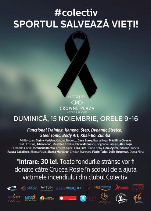 SPORTUL SALVEAZĂ VIEȚI! – cel mai mare eveniment caritabil de fitness pentru suportul victimelor din #COLECTIV