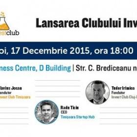 Lansarea Clubului Investitorilor din Timisoara
