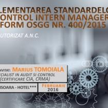 Curs: Modificari ale Controlului Intern Managerial – OSGG 200/2016
