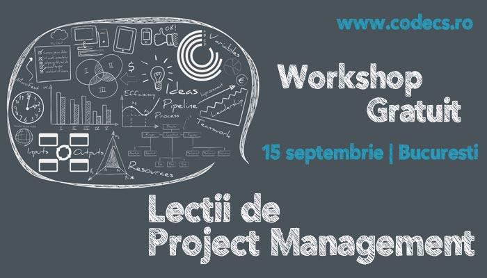 Fa primul pas spre dezvoltare in domeniul Managementului de Proiect!