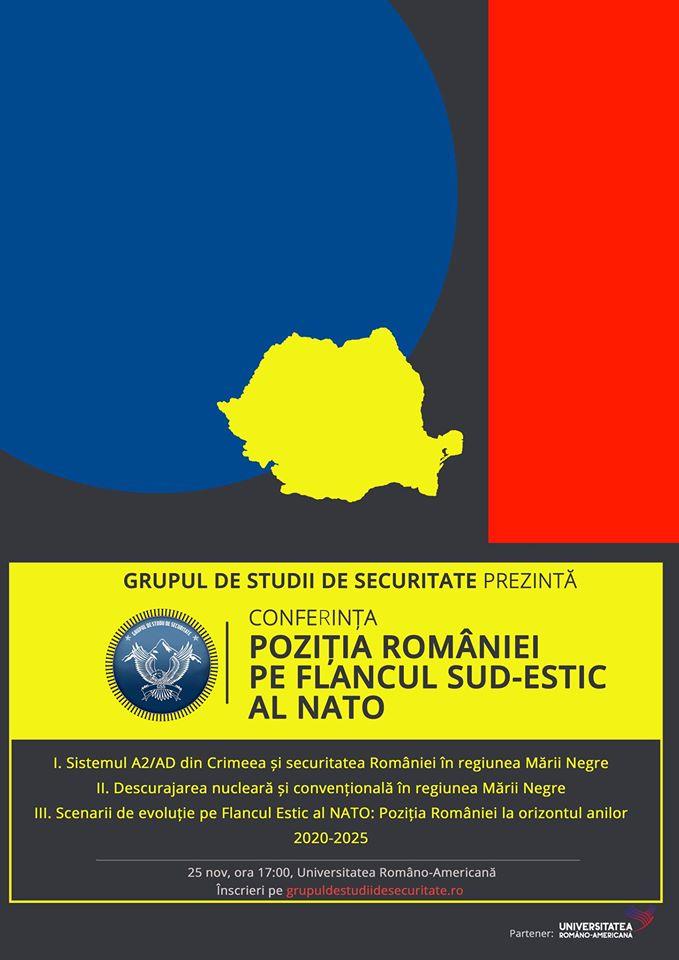 Poziția României pe flancul Sud-Estic al NATO