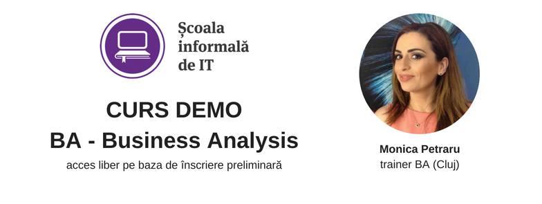 Curs demo de Business Analysis (BA)