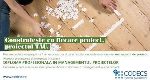Inscrie-te acum la Programul Diploma Profesionala in Managementul Proiectelor! Peste 15 ani de traditie in Romania